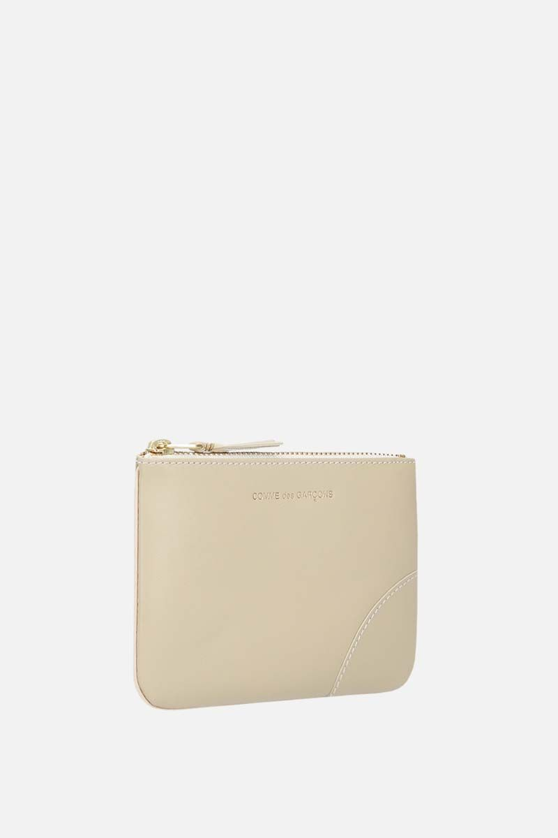 COMME des GARCONS WALLET: busta small in pelle liscia Colore Bianco_2