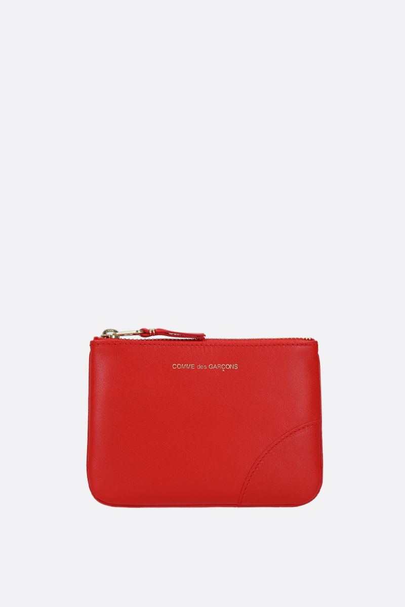 COMME des GARCONS WALLET: smooth leather small pouch Color Orange_1