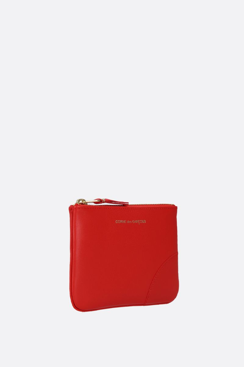 COMME des GARCONS WALLET: smooth leather small pouch Color Orange_2