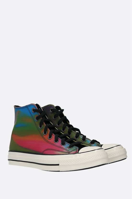 CONVERSE: Chuck 70 holographic rubber high-top sneakers Color Black_2