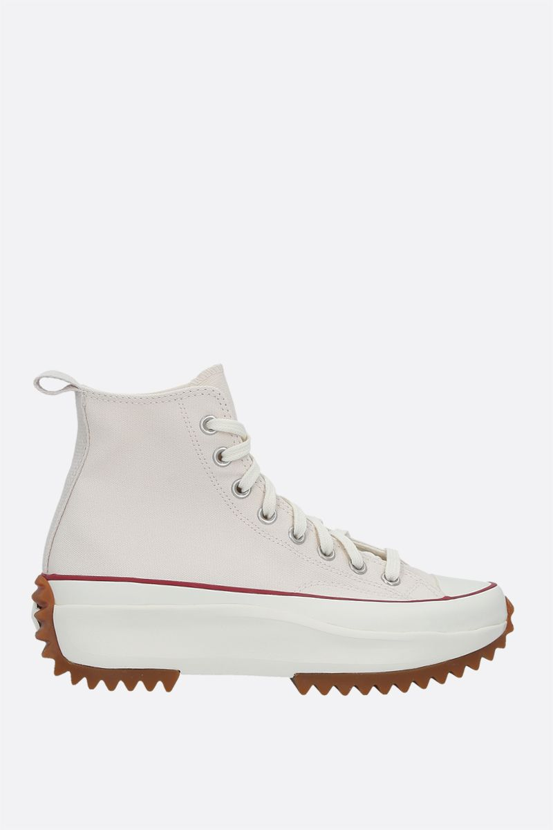 CONVERSE: Run Star Hike canvas high-top sneakers Color White_1