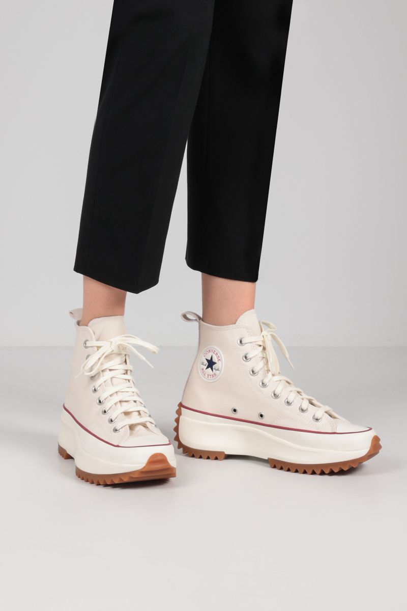 CONVERSE: Run Star Hike canvas high-top sneakers Color White_2