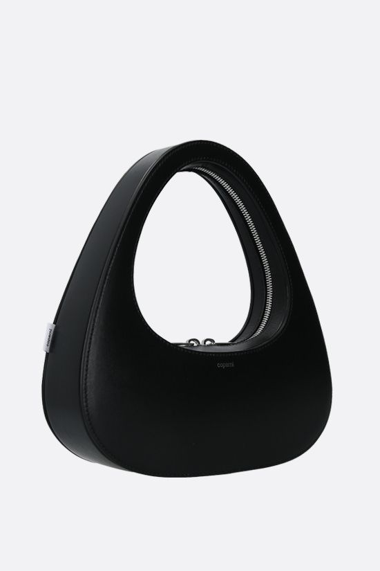 COPERNI: Baguette Swipe smooth leather handbag Color Black_2