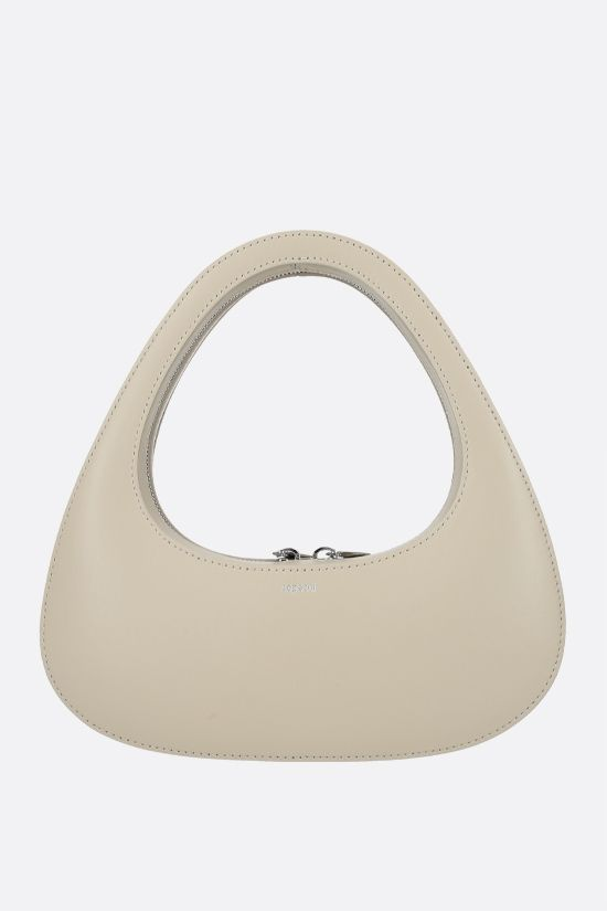 COPERNI: Baguette Swipe smooth leather handbag Color Neutral_1