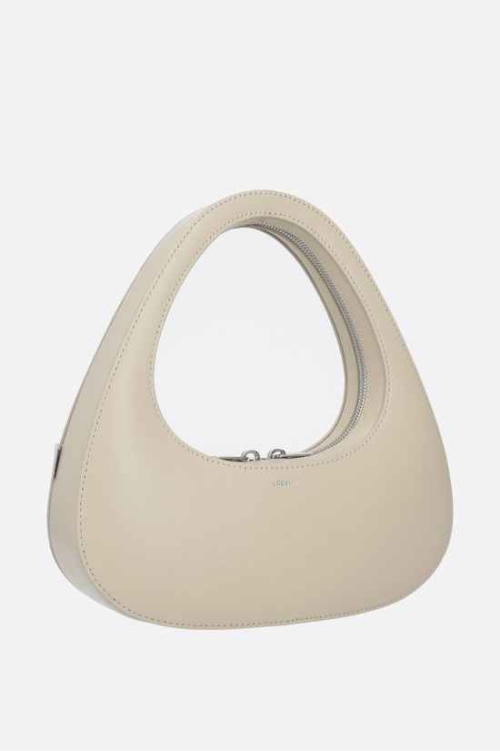 COPERNI: Baguette Swipe smooth leather handbag Color Neutral_2