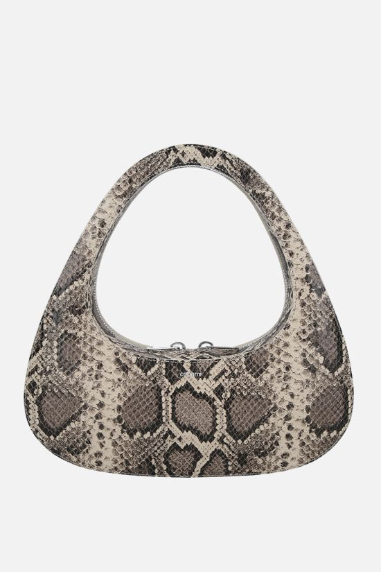 COPERNI: Baguette Swipe python-embossed leather handbag Color Animalier_1