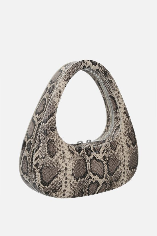 COPERNI: Baguette Swipe python-embossed leather handbag Color Animalier_2
