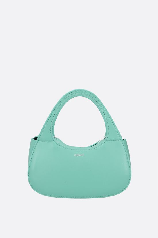 COPERNI: Baguette Swipe micro smooth leather handbag Color Green_1