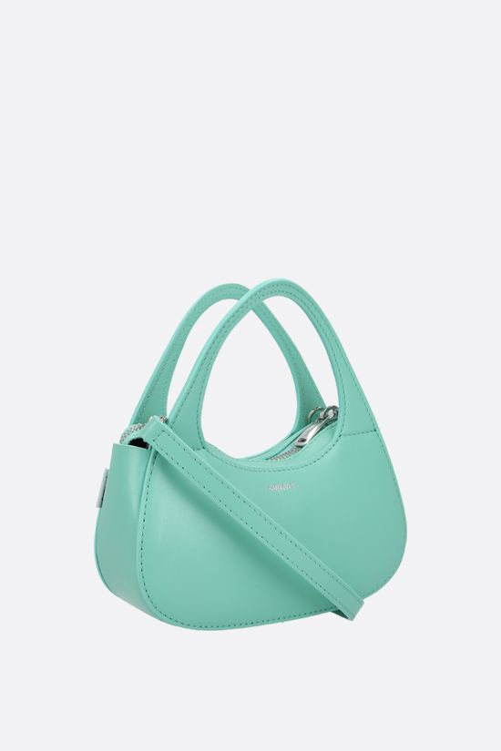 COPERNI: Baguette Swipe micro smooth leather handbag Color Green_2