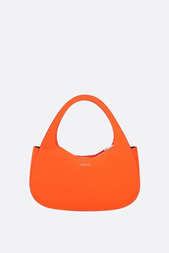 COPERNI: Baguette Swipe micro smooth leather handbag Color Orange_1
