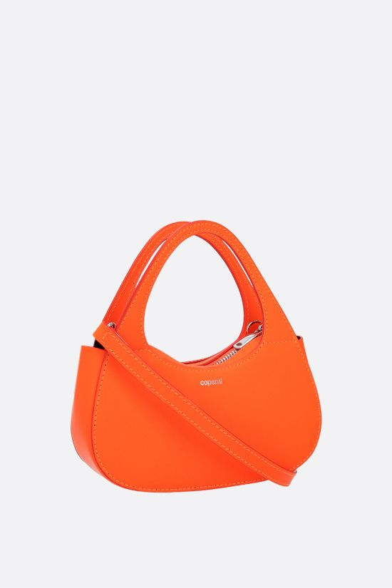 COPERNI: Baguette Swipe micro smooth leather handbag Color Orange_2