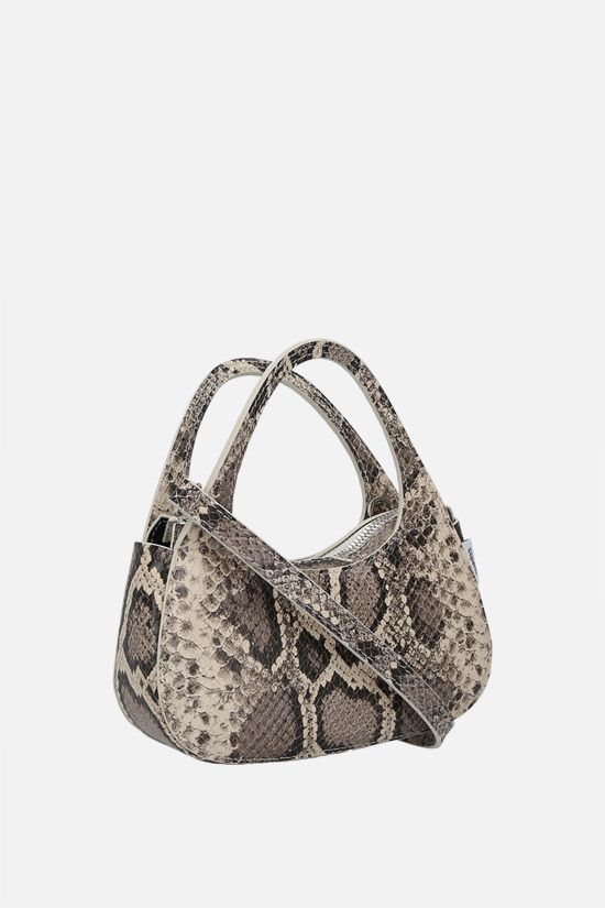 COPERNI: Baguette Swipe micro python-embossed leather handbag Color Animalier_2