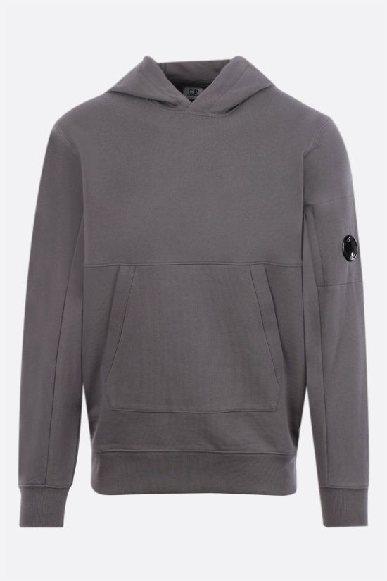 CP COMPANY: logo-detailed cotton hoodie Color Grey_1