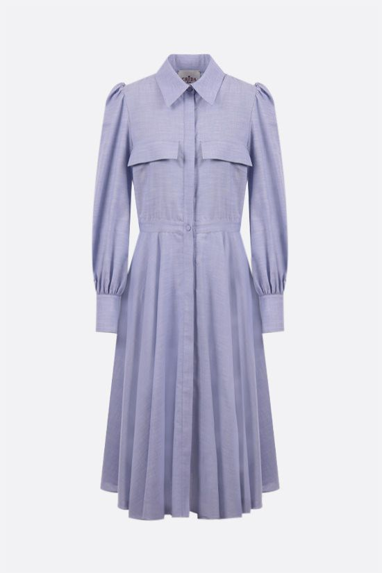 CRIDA: Spoleto cotton shirt dress Color Blue_1