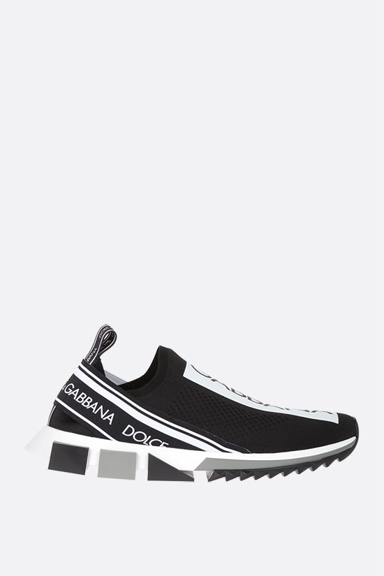 DOLCE & GABBANA: Sorrento stretch knit sneakers Color Black_1