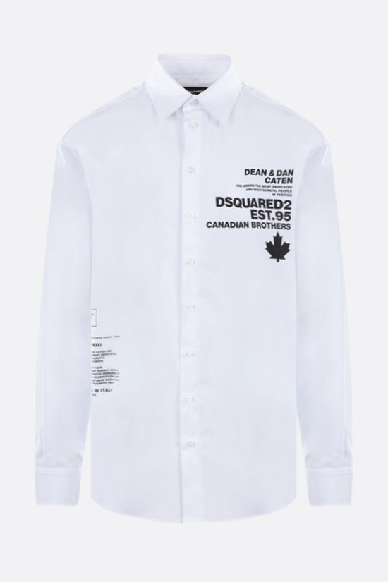 DSQUARED2: Dsquared2 Est.95 print cotton shirt Color White_1
