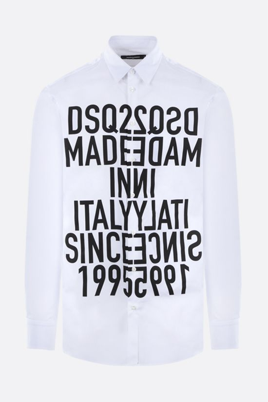 DSQUARED2: Vertical Mirrored cotton t-shirt Color White_1