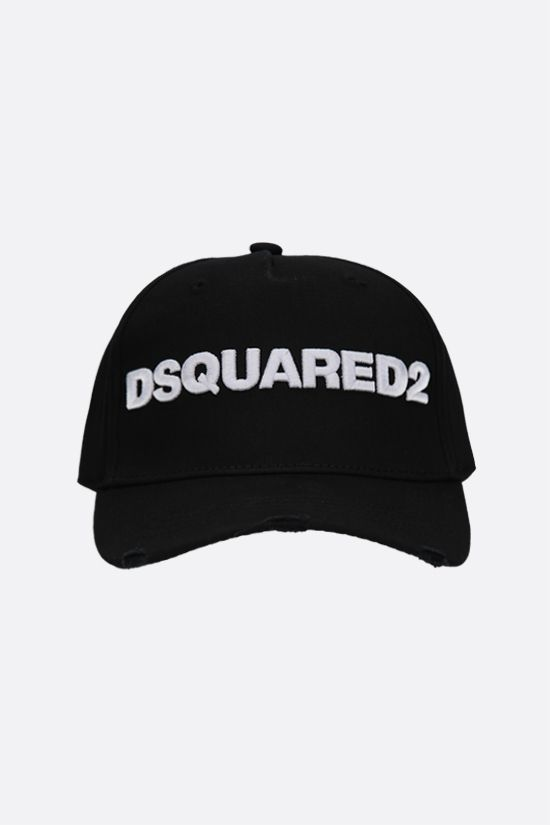 DSQUARED2: Dsquared2 cotton baseball cap Color Black_1