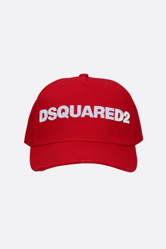 DSQUARED2: Dsquared2 cotton baseball cap Color Red_1