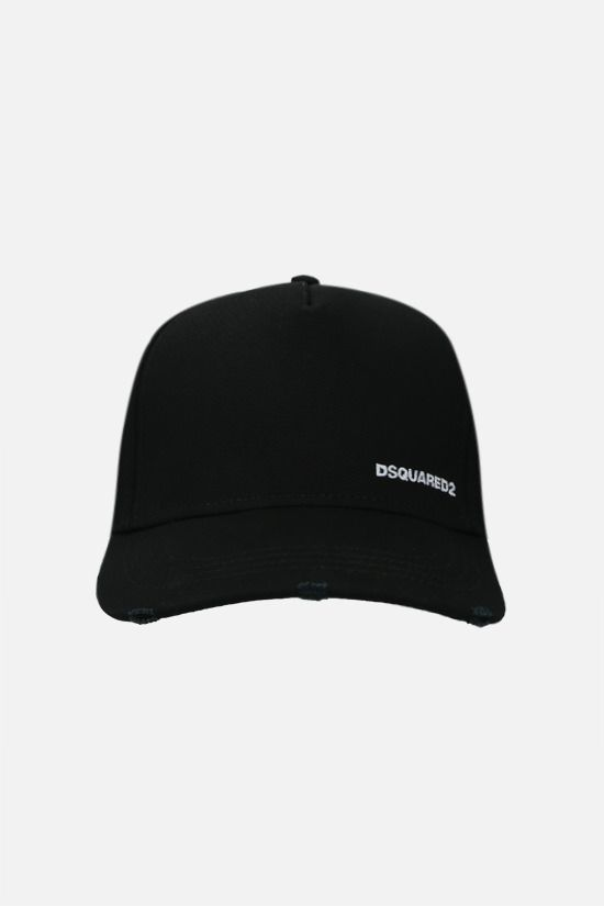 DSQUARED2: DominateD2 cotton baseball cap Color Black_1