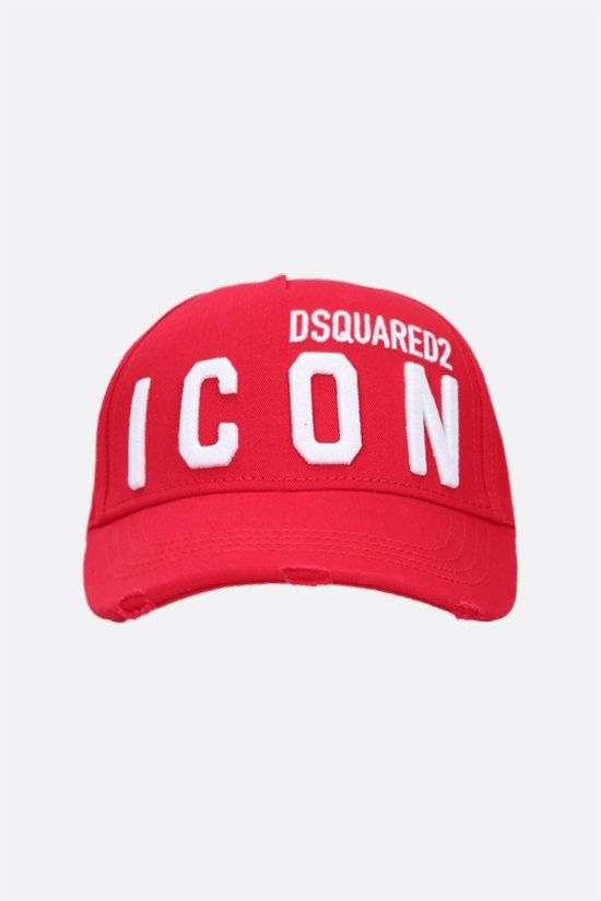 DSQUARED2: Icon Dsquared2 cotton baseball cap Color Red_1
