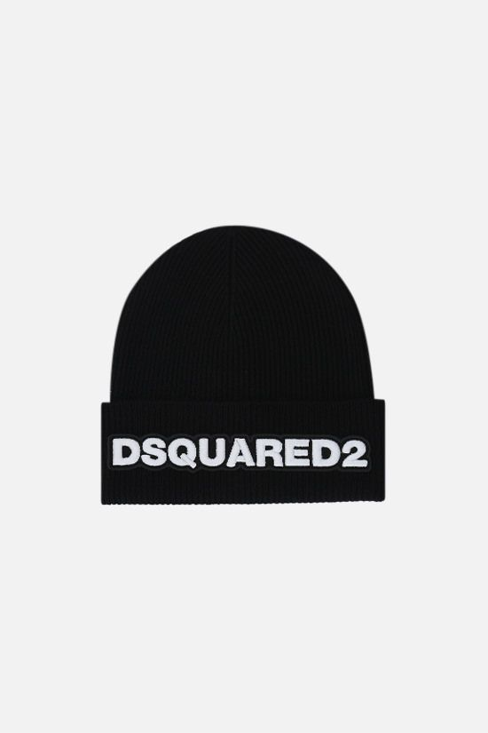 DSQUARED2: Dsquared2 wool beanie Color Black_1
