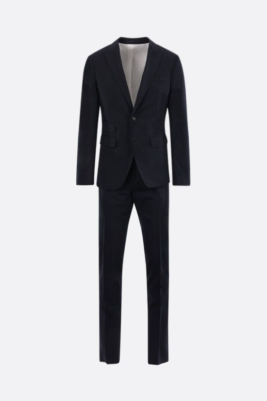 DSQUARED2: stretch wool two-piece suit Color Blue_1