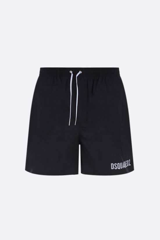 DSQUARED2: Icon Dsquared2 nylon swim shorts Color Black_1