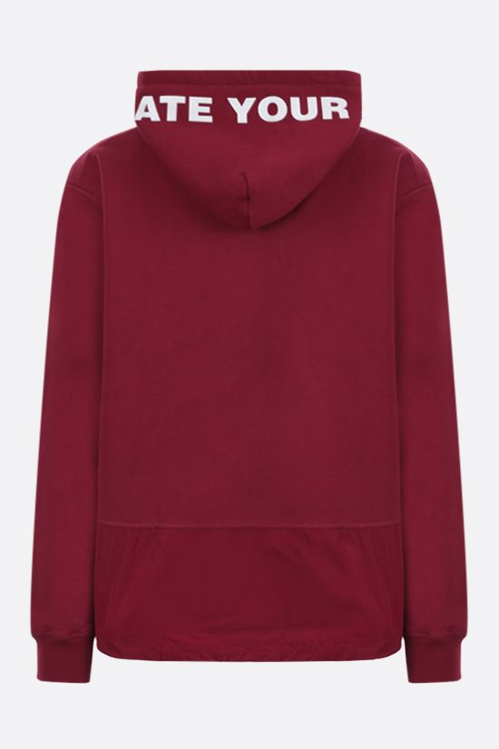 DSQUARED2: logo print cotton hoodie Color Red_2