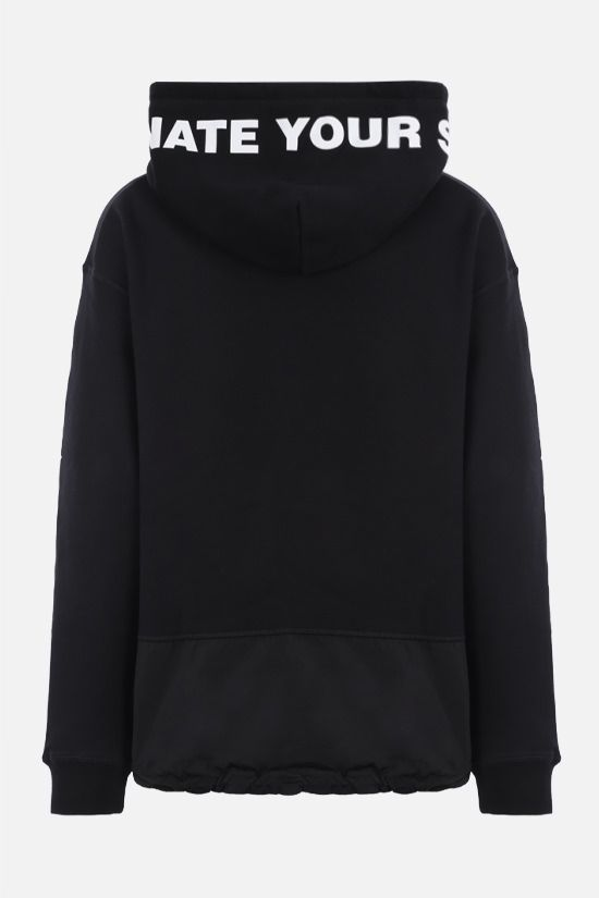 DSQUARED2: logo print cotton hoodie Color Black_2