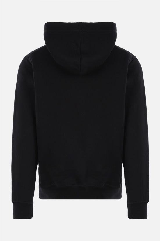 DSQUARED2: Vertical Mirrored cotton hoodie Color Black_2