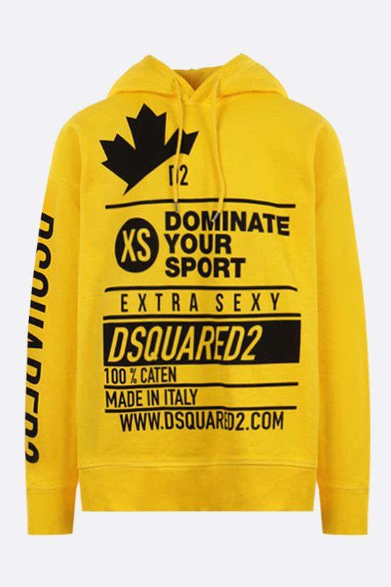 DSQUARED2: Dominate Sport oversize cotton hoodie Color Yellow_1