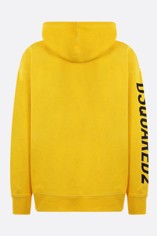 DSQUARED2: Dominate Sport oversize cotton hoodie Color Yellow_2