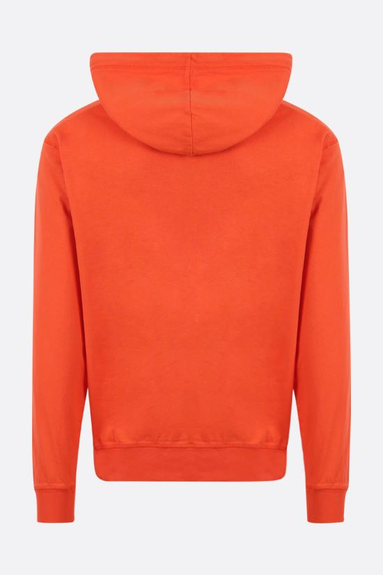 DSQUARED2: Mirrored DSQ2 print cotton hoodie Color Orange_2