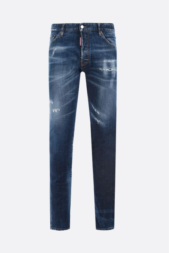DSQUARED2: Cool Guy distressed effect jeans Color Blue_1