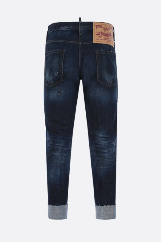 DSQUARED2: Cool Guy cropped jeans Color Blue_2