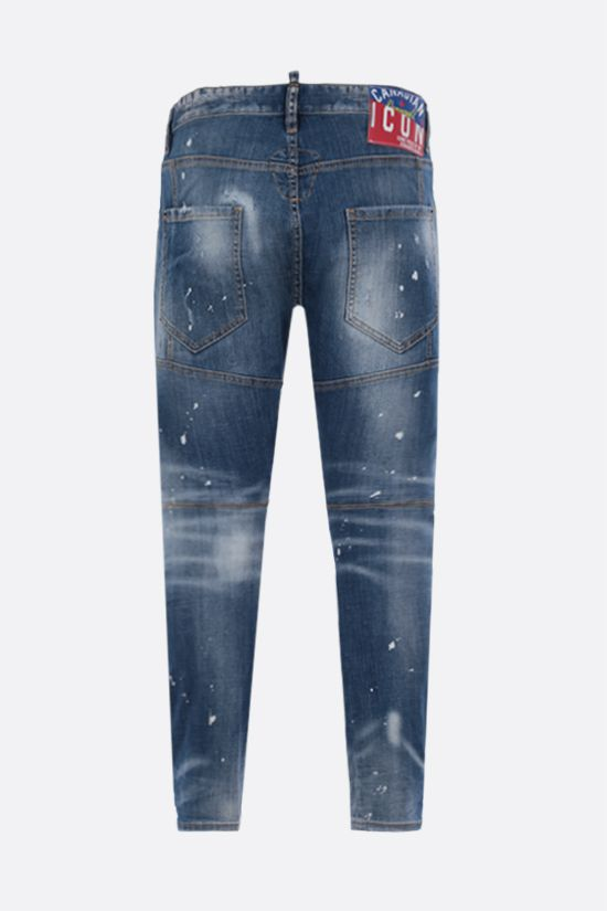 DSQUARED2: Tidy Biker distressed-effect jeans Color Blue_2