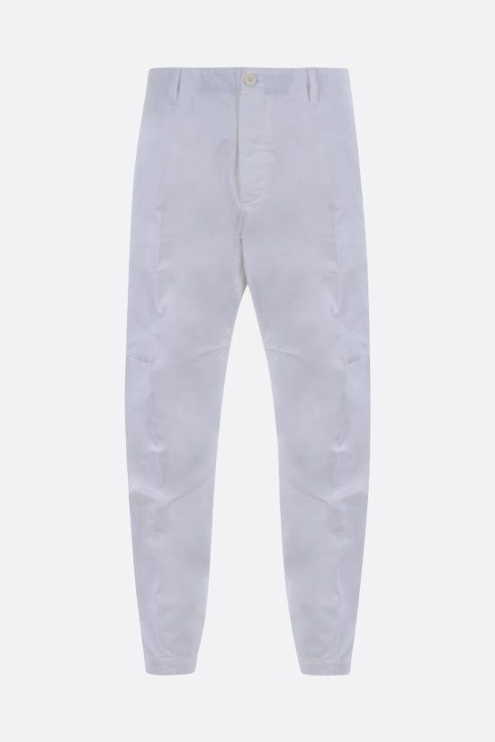 DSQUARED2: Canadian Leaf print cotton chino pants Color White_1