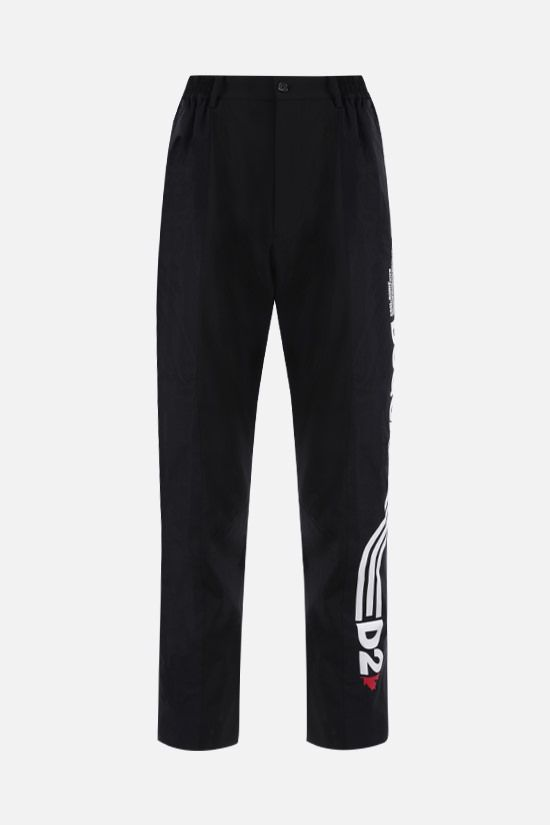 DSQUARED2: stretch wool and mesh pants Color Black_1