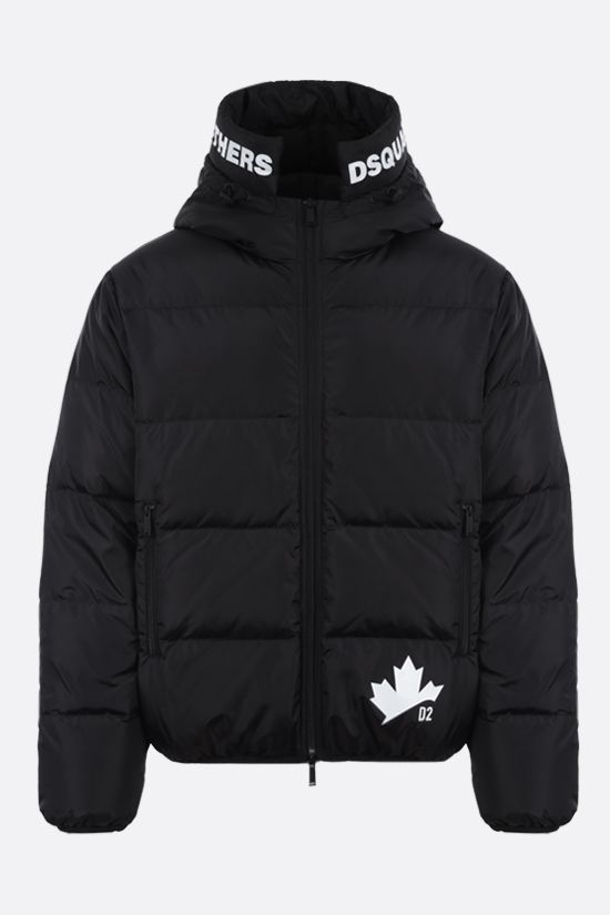 DSQUARED2: D2 print nylon down jacket Color Black_1