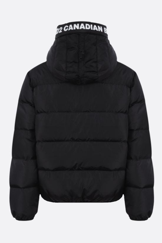 DSQUARED2: D2 print nylon down jacket Color Black_2