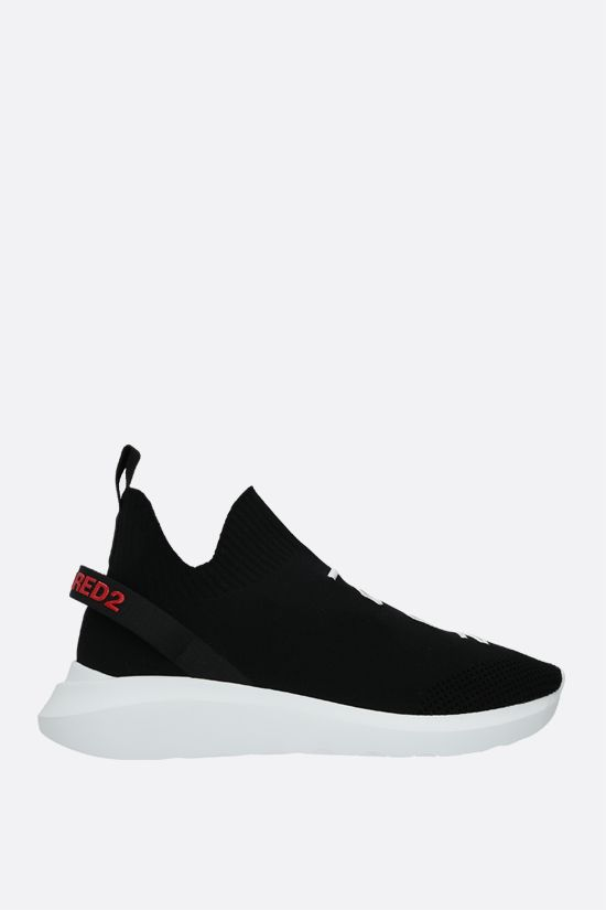 DSQUARED2: Speedster slip-on sneakers in stretch knit Color Black_1