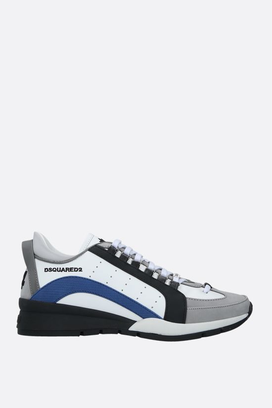 DSQUARED2: 551 smooth leather and nabuk sneakers Color White_1