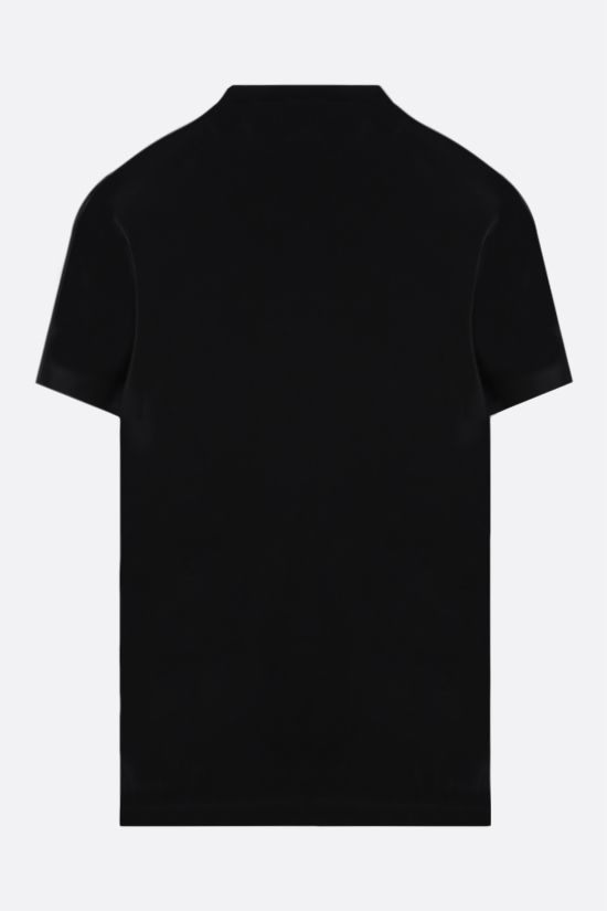 DSQUARED2: Dsquared2 Brothers logo print cotton t-shirt Color Black_2
