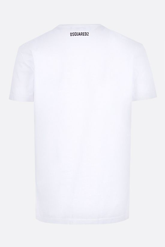 DSQUARED2: Vertical Mirrored cotton t-shirt Color White_2