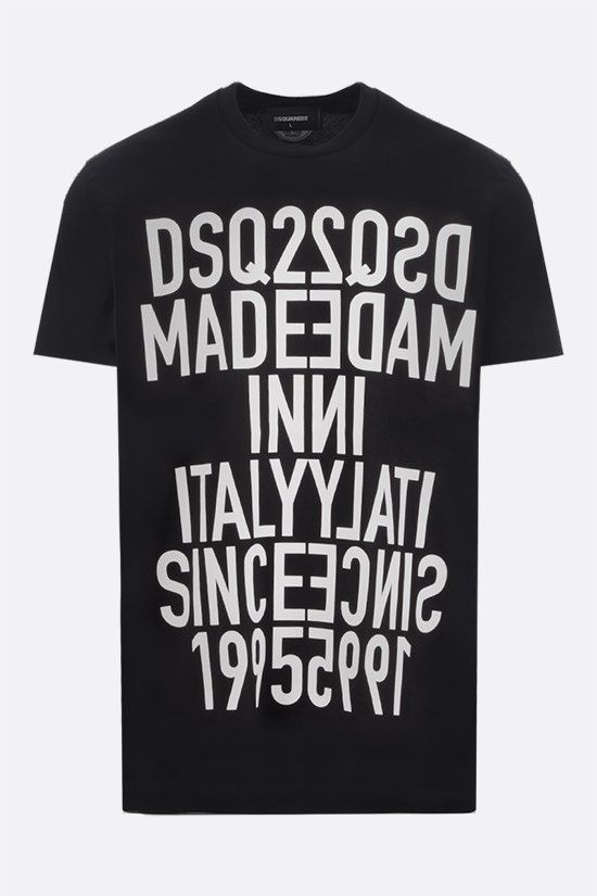 DSQUARED2: Vertical Mirrored cotton t-shirt Color Black_1