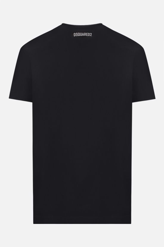 DSQUARED2: Vertical Mirrored cotton t-shirt Color Black_2