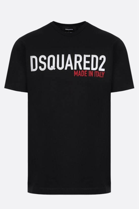 DSQUARED2: Made in Italy print cotton t-shirt Color Black_1
