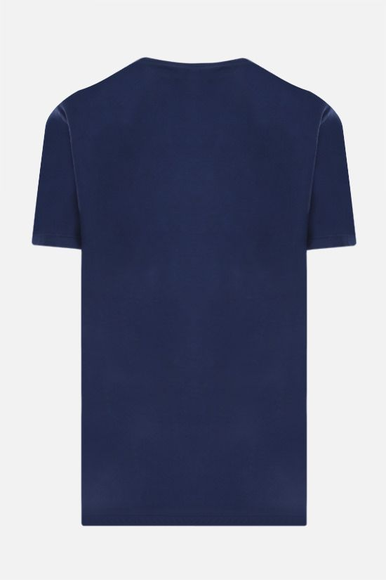 DSQUARED2: logo print cotton t-shirt Color Blue_2