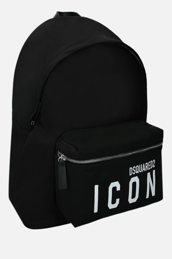 DSQUARED2: zaino Icon Dsquared2 in nylon Colore Nero_2